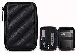 BUBM Electronics Accessories Organizer Travel Carrying Case Digital Storage Bag EVA Series for Hard drive(EHD,Black)