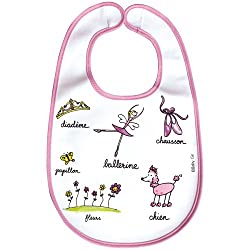 Baby Cie Washable Large Bib French Wording and Themes