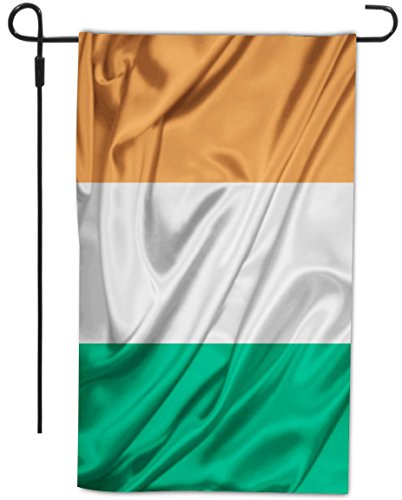Rikki Knighttm Ireland Flag Design Decorative House Or Garden Flag 12 X 18 Inch Full Bleed (Proudly Made In The Usa)