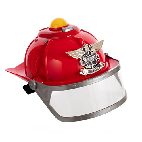[The city of heroes Fire rescue Helmet with lights and sirens] (Police Chief Child Hat)