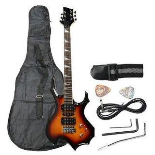 Moppi IRIN Flamme elektronische Gitarre Sonnenuntergang Farbe: mit Tasche Pick Kabelbinder bestellen