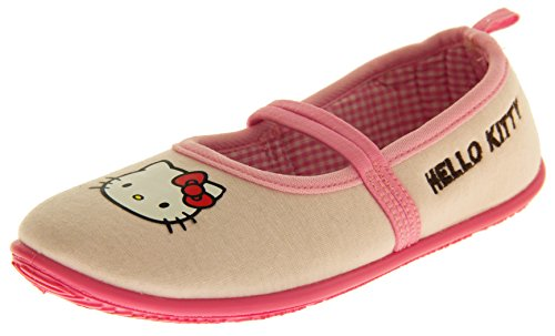 Hello Kitty Fragokit Bambina Rosa Cinturino Elastico Pantofole Scarpa Balletto EU 35
