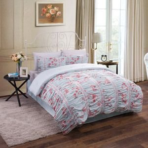 Amazon Com 3pc Blue Pink Shabby Chic Asian Cherry Blossom