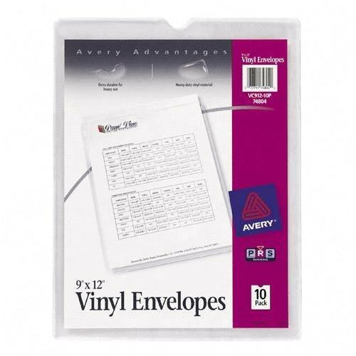Avery(R) Vinyl Envelopes, Heavyweight, 9in. x 12in., Pack Of 10 - Buy Avery(R) Vinyl Envelopes, Heavyweight, 9in. x 12in., Pack Of 10 - Purchase Avery(R) Vinyl Envelopes, Heavyweight, 9in. x 12in., Pack Of 10 (Avery, Office Products, Categories, Office & School Supplies, Binders & Binding Systems, Binder Accessories, Sheet Protectors Card & Photo Sleeves, Sheet Protectors)
