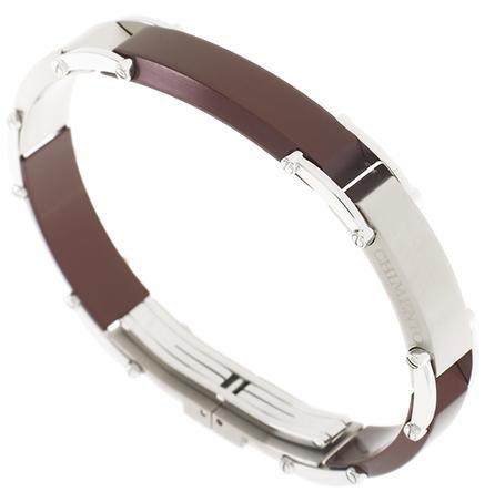 Chimento screen bracciale jewels for man acciaio titanio anodizzato vinaccia