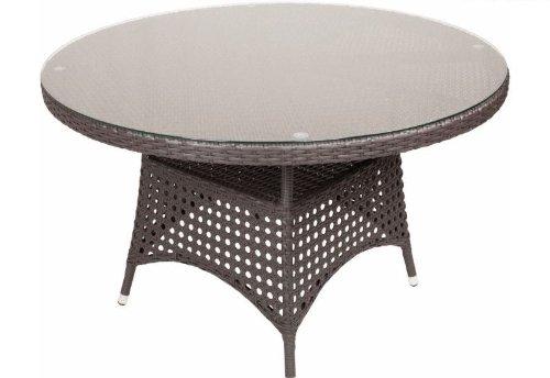 Diamond Garden Tisch Dublin 120 cm braun günstig kaufen
