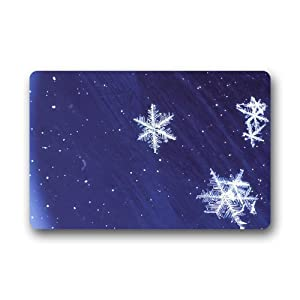 Custom merry christmas winter snowflake door for Door mats amazon