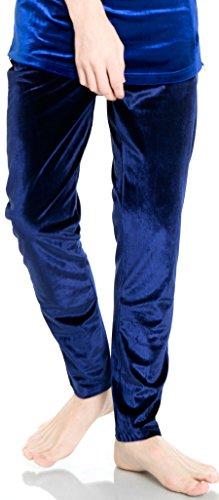 Pizoff Mens Unisex Casual Sport Sapphire Velvet Soft Velour Tracksuit SweatPant Y1581-S