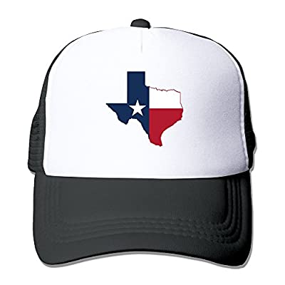 Flag Map Of Texas Mesh Script Snapback Hats