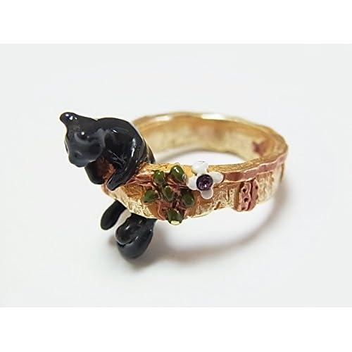 (パルナートポック)Palnart Poc クララ・シンクレア リング (ブラック) 黒猫 クロネコ 指輪 アクセサリー ねこ キャット アニマル 動物 カワイイ 個性的 【Brough Superior/ブラフシューペリア】