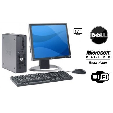 Dell Optiplex 745 Desktop Computer, Intel Pentium D 3.4Ghz CPU, 2GB DDR2 Memory, 160GB Hard Drive, WiFi, DVD/CD-RW Optical Drive, Microsoft Windows XP Pro Operating System. (Featuring an iCompNY USB Keyboard and Mouse) Back to school Computer Bundle With Dell Monitor and Dell Speakers