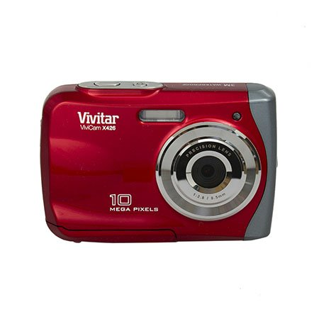 Vivitar 10Mp Waterproof Digital Camera (Vx426-Red-Pr)