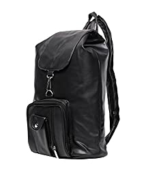 New Zovial Sober Black PU Small Backpack
