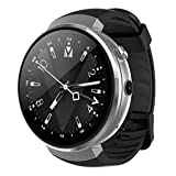 LEMFO LEM7 Smart Watch - Android 7.0 3G LTE 2MP Camera Watch Phone 16GB ROM Built-in Translator Bluetooth/GPS/Heart Rate Monitor Sports Smartwatches for Android iOS (Silver) (Color: Silver)