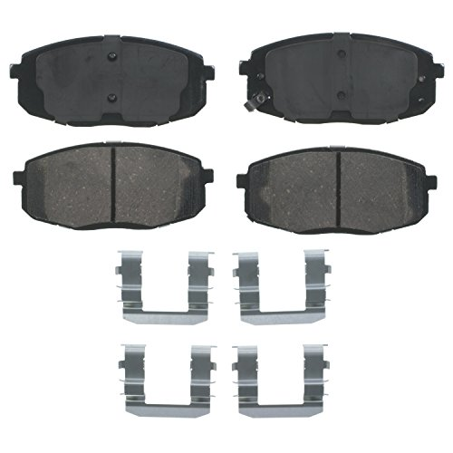 Wagner QuickStop ZD1397 Ceramic Disc Pad Set Includes Pad Installation Hardware, Front (Wagner Brake Pads And Rotors compare prices)