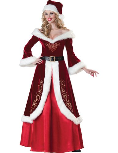 Mrs St Nick Adult Womens Costume 16-18 Adult Womens Costume