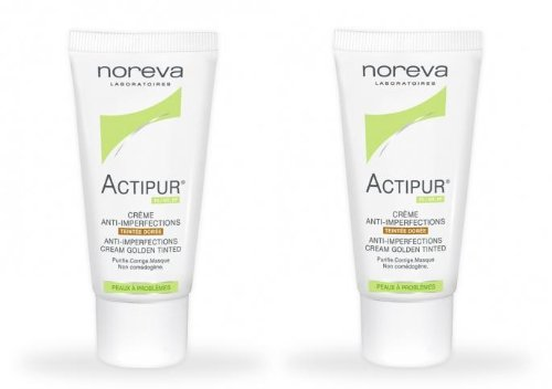 Noreva Actipur Creme Anti-imperfections Teintee Doree 30ml (2 tubes)