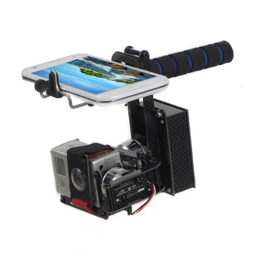JMT 2-axis Handheld Brushless Gimbal Self-stabilization FPV Camera Mount Complete Set for Gopro Hero 2 3