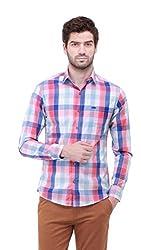 Jogur Pink Blue Chk Color Casual Shirt For Men
