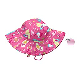 i play. Baby Reversible Brim Sun Protection Hat, Hot Pink Cabana, 9-18 Months