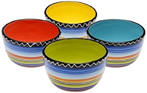 Certified International Tequila Sunrise Ice Cream Bowl, 5.25-Inch, Assorted Designs, Set... by Certified International