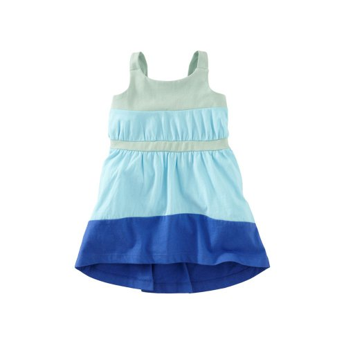 Tea Collection Baby-Girls Taza Hi-Lo Dress, Mint (12-18 Months)