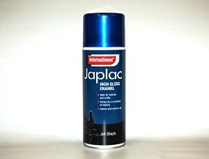 japlac high gloss enamel spray paint jet black 400ml. Black Bedroom Furniture Sets. Home Design Ideas