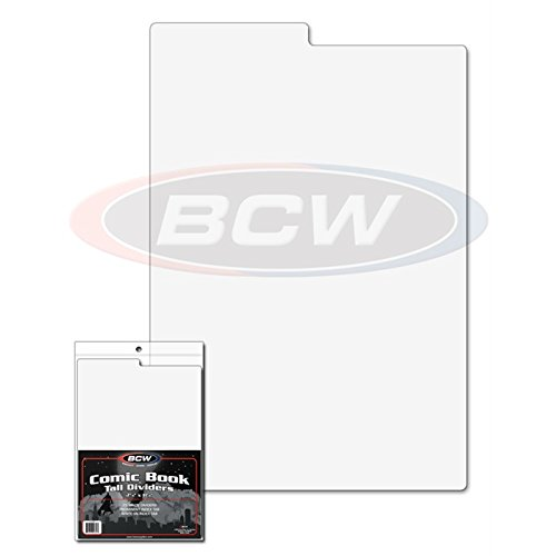 5-NEW-BCW-Tall-Comic-Book-Dividers-for-Long-Short-or-Graded-Storage-Boxes