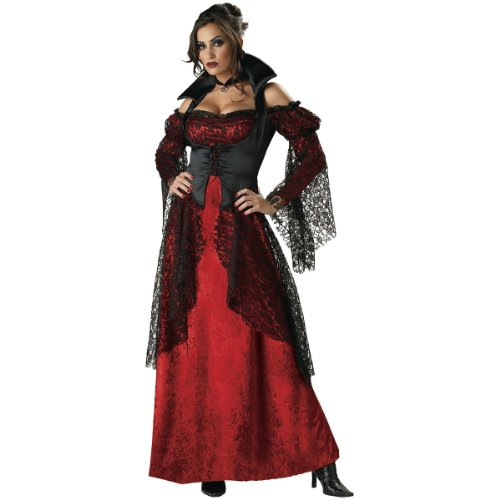 Vampiress Sexy Women's Costume Adult Halloween Outfit - Size L, Dress Size 10-14