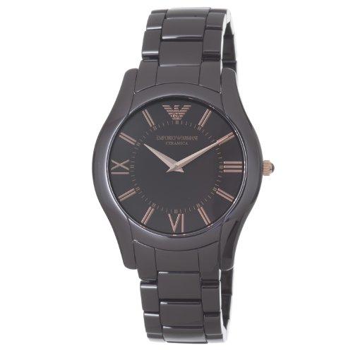 Emporio Armani Men S Ar1444 Ceramic Slim Brown Dial Watch