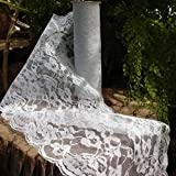 White Lace Runner, 9 inches wide x 10 yds, Vintage Shabby Chic Wedding