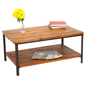 Chaska Wood Finish Coffee Table