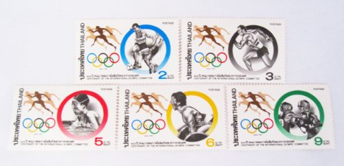 Beautiful Thai Stamps Collecting Centenary of the International Olympic Commitee 1994 Unused Thailand