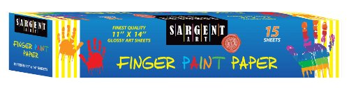 Sargent Art 66-7014 15 Sheet Finger Paint Paper