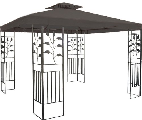 WASSERDICHTER Pavillon 3x3m anthrazit TOSKANA Metall inkl. Dach Festzelt wasserfest Partyzelt (anthrazit) günstig kaufen