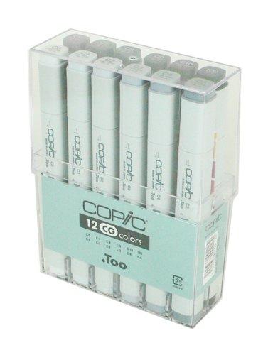 .Copic ORIGINAL Markers 12 color set CG - Cool Grey Set