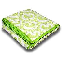 Tura Turi - Baby Blanket - Cotton Muslin (Pyaare Panchhi, Green) + Free Shipping