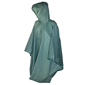 Totes 2 Pack Waterproof Rain Ponchos (Clear & Green, One Size) at