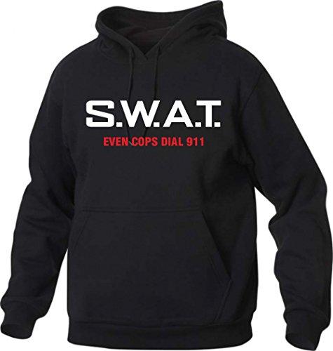t-shirt manica lunga nera - tribute - SWAT - squadra speciale anticrimine - S M L XL XXL uomo donna bambino maglietta by tshirteria