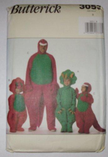 Butterick Costume Dinosaur Pattern 3053
