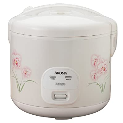 Aroma 12-Cup (Cooked) (6-Cup UNCOOKED) Cool Touch Rice Cooker and Food Steamer with Flowers Design (ARC-1266F) by Aroma