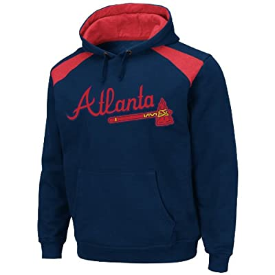 MLB Atlanta Braves Men's Club Appeal Hoodie, Navy/Red