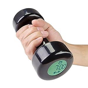 トウタク(Taotuo)かっこいい 面白い ダンベル デジタル 目覚まし時計 アラームクロック 2アラームモード 普通モード フィットネスモード 起き 腕力 運動 体にいい  ギフト プレゼント (ブラック)