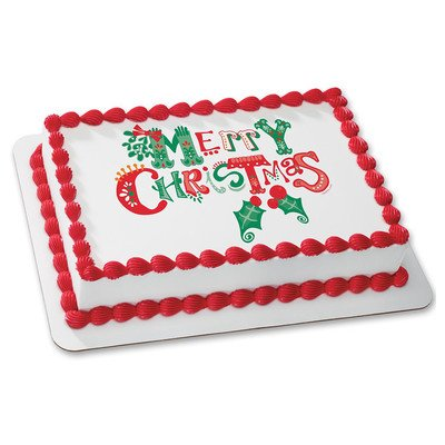 Merry Christmas #2 Edible Frosting Sheet