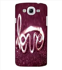 ColourCraft Love Ring Design Back Case Cover for SAMSUNG GALAXY MEGA 5.8 I9150