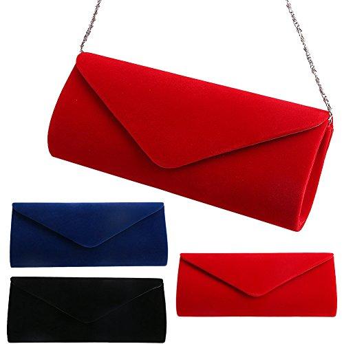 Padoora-Ladies-Velvet-Evening-Clutch-Handbag-Chain-Bag-Formal-Chain-Shoulder-Tote-Purse