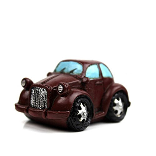 Creative Gifts Resinous Small Ornaments Vintage Car Model(Brown 6.5CM)
