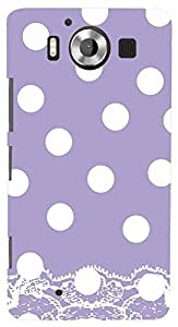 PrintVisa Pattern Polka Dots Purple Case Cover for Nokia Lumia 950