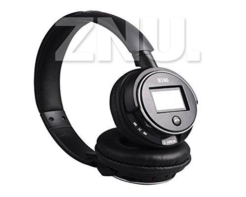 Black Multifunction Sport Stereo Wireless Bluetooth Headphone Headset Earphone