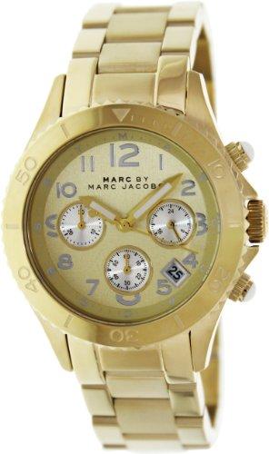 Marc by Marc Jacobs MBM3188 - Reloj para hombres, correa de acero inoxidable color dorado